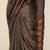 Handloom saree - Gadwal Cotton with Pochampally Border - Brownish Grey