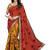 multicolor printed dupion-silk saree with blouse