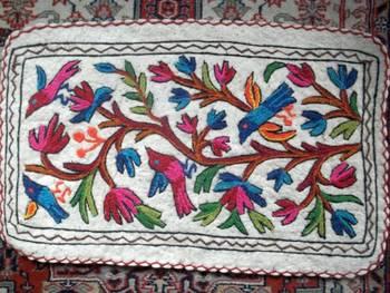 kashmiri multi colour namdha rug