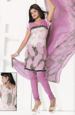 Crepe Dress Material Elegant Designer Unstitched Salwar Suit D.No 7287