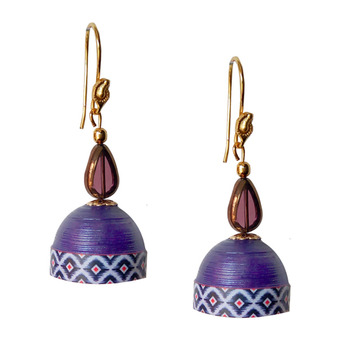 Violet Quilled Jhumkas