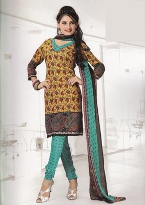 Crepe Dress Material Elegant Designer Unstitched Salwar Suit D.No 4312