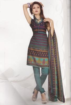 Crepe Dress Material Elegant Designer Unstitched Salwar Suit D.No 4317
