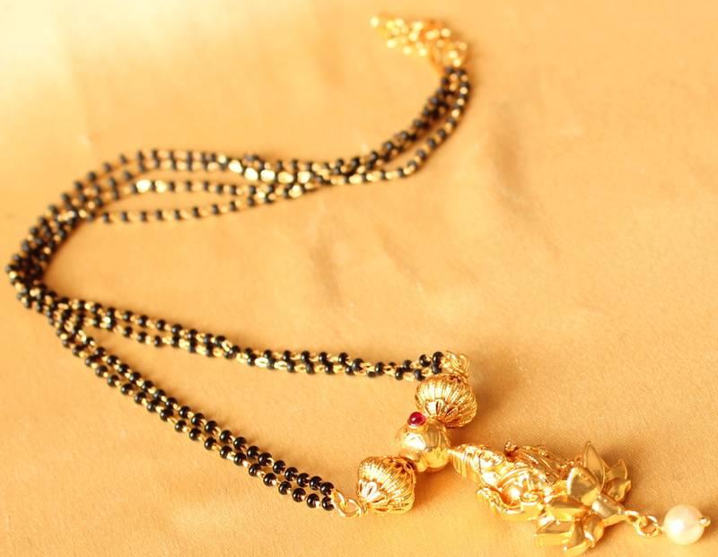 Buy Divine Gold Tone Lakshmi Mangalsutra Online
