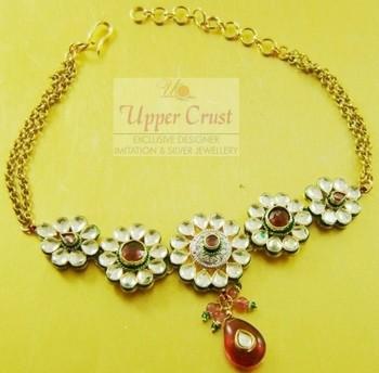 CZ Kundan Bridal  Flower Armlet Baju Bandh Accessory