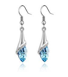 Buy Blue Crystal Hangginf Earrings fashion-deal online