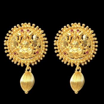 Buy temple traditional lakshmi devi earrings line
