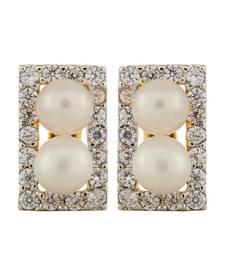 Buy Exquisite Pearl Studded Huggie Earring hoop online