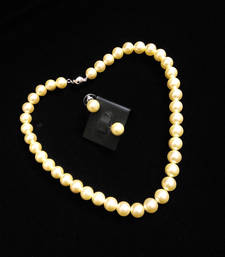 Buy cream natural pearl neckline Necklace online
