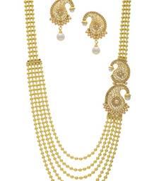Buy CLASSICE DESIGNER SIDE PIECE NECKLACE SET necklace-set online