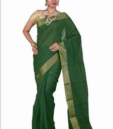 Buy cream woven cotton saree with blouse kerala-saree online