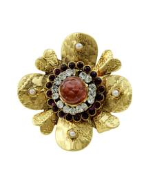 Buy Floral Purple Traditional Rajwadi Finger Ring Jewellery for Women - Orniza Ring online