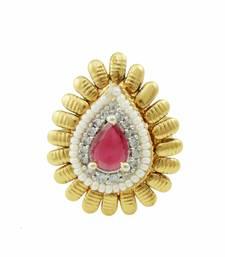 Buy Ruby Red Polki Stones Finger Ring Jewellery for Women - Orniza Ring online