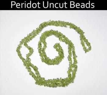 Peridot Uncut Beads