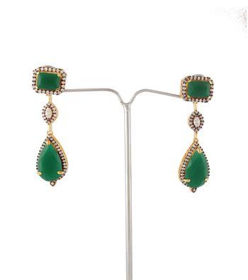 Sihiri Elegant Green Earrings