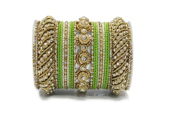 Green zircon bangles-and-bracelets