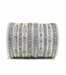 Buy Silver zircon bangles-and-bracelets jewellery-below-500 online