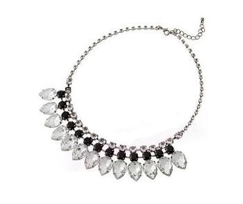Crystals elegant necklace (black )