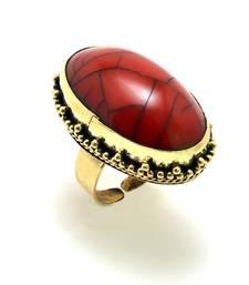 Buy Red golden ring Ring online