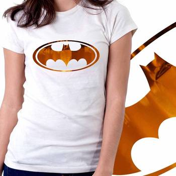 BatWomen Girls Foil Tshirt at Offer, Womens Bronze Special Effect T-shirt