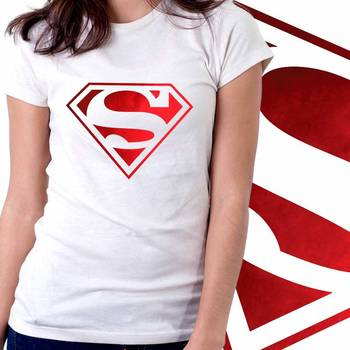 Superhero Girls Foil T-shirt at Offer, Womens Red Special Effect Tshirt