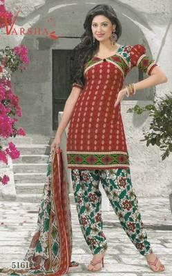 Crepe dress material elegant designer unstitched salwar suit d.no 5161