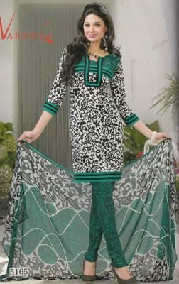 Crepe dress material elegant designer unstitched salwar suit d.no 5165