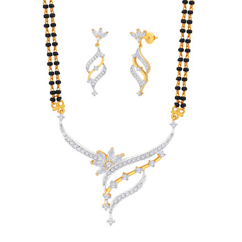 Gold Cubic Zirconia mangalsutra