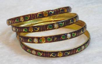 Classic beautiful ethnic multicolored meenakari bangles