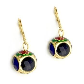 Blue Stone Enamel earrings