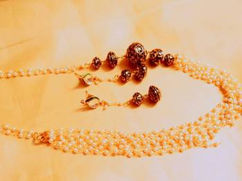 kundan stone pearl mala
