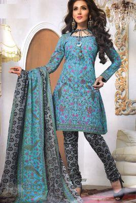Cotton Dress Material Elegant Designer Unstitched Salwar Suit D.No 3186