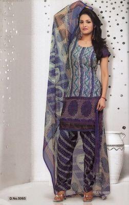 Dress Material Elegant French Crepe Printed Unstitched Salwar Kameez Suit D.No 5065