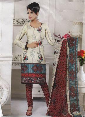 Cotton Dress Material Elegant Designer Unstitched Salwar Suit D.No 12021
