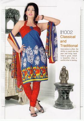 Dress Material Elegant Crepe Printed Unstitched Salwar Kameez Suit D.No SJ1002