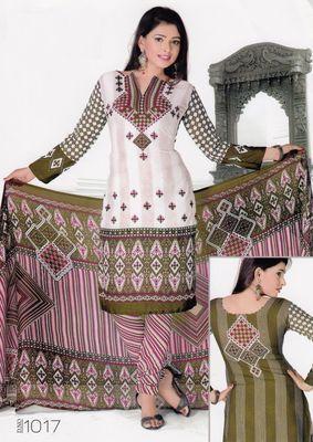 Dress Material Elegant Crepe Printed Unstitched Salwar Kameez Suit D.No 1017
