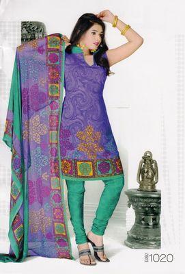 Dress Material Elegant Crepe Printed Unstitched Salwar Kameez Suit D.No 1020