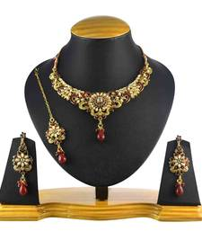 Buy Maroon Pearl necklace-sets necklace-set online