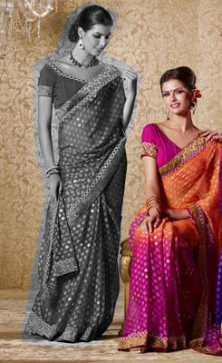 Elegant Designer Sari Gun8408b