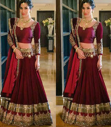 Buy RED ZARI WORKED SILK DESIGNER LEHENGA WITH BLOUSE black-friday-deal-sale online