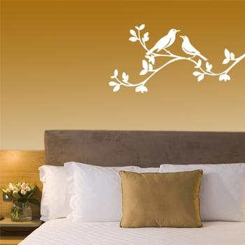 Two birds on a brach - wall art