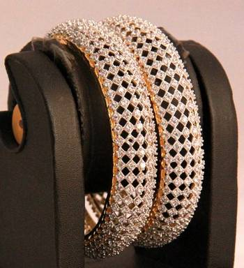 Elegant Pair of Americal Diamond Bangles