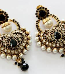 Buy ANTIQUE GOLD PLATED BLACK N WHITE PEARLS HANGINGS Other online