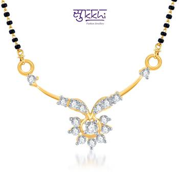 Sukkhi Gracefull CZ Gold and Rhodium Plated mangalsutra(121M400)