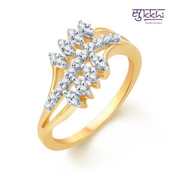 Sukkhi Appealing Gold and Rhodium Plated CZ rings(142R550)