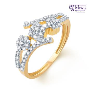 Sukkhi Glimmery Gold and Rhodium Plated CZ rings(153R600)