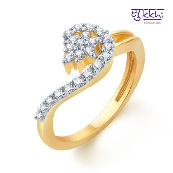 Sukkhi Delightful Gold and Rhodium Plated CZ rings(157R430)