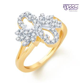 Sukkhi Splendid Gold and Rhodium Plated CZ rings(161R650)
