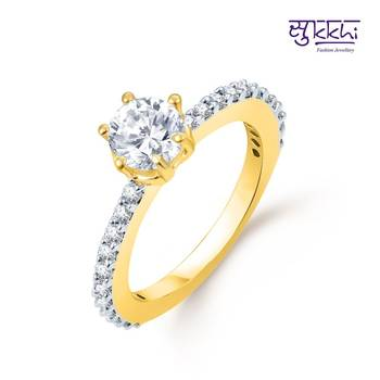 Sukkhi Marvellous Gold and Rhodium Plated CZ rings(177R420)