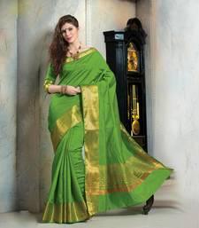 Buy Green manipuri silk saree with blouse manipuri-silk-saree online